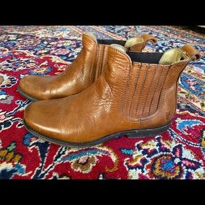 Frye Brown Leather Ankle Boots